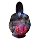 zip blank teen boys sublimated quilted hoodie