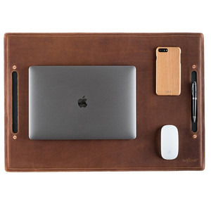 Luxury leather heat protection table mat desk pad