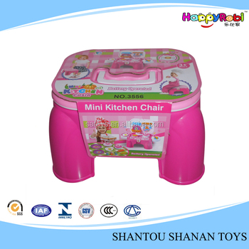 Child Toy Cartoon Chair Pretend Play Plastic Toy Kitchen Sets View