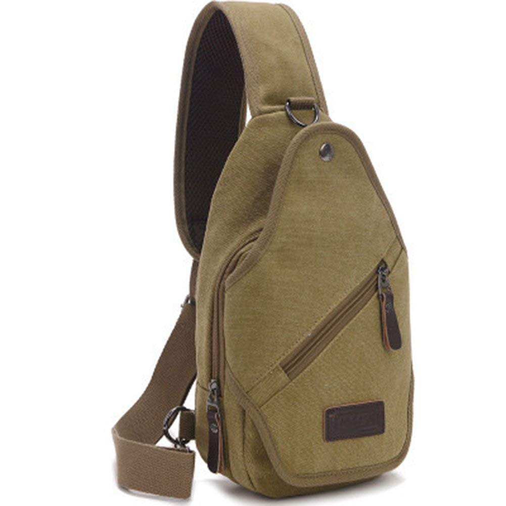 25cd1cfd02 Get Quotations · Modelshow Casual Leisuring Canvas Backpack Crossbody Sling  Bag Chest Bag for Girls Mens Couples Lovers