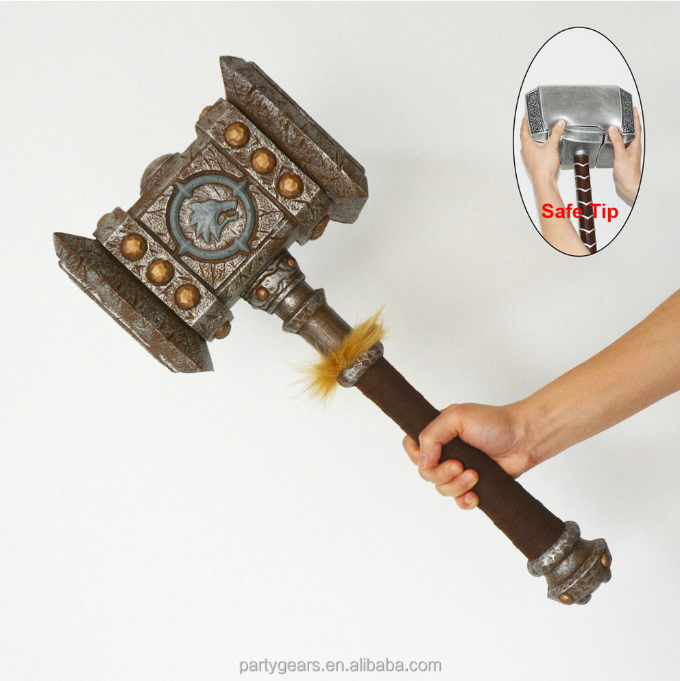 BSCI factory Supply PU foam warcraft hammer training weapon handmade chinese sword high quality