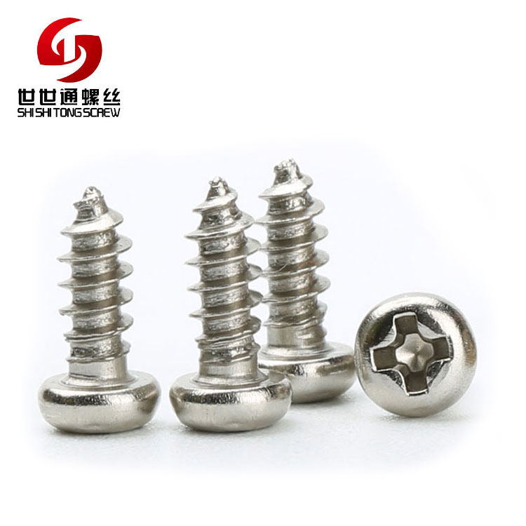 M2.4*6 Pan Head Phillips Self Tapping Stainless Steel Manufacturing Screw Hidden Camera