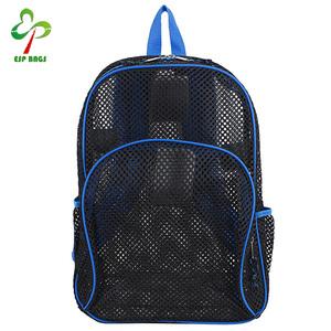 6746711afc90 Breathable soft youth kids clear backpacks, beach cute mesh backpack