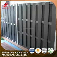 2017 haining factory price wood plastic garden wpc fence