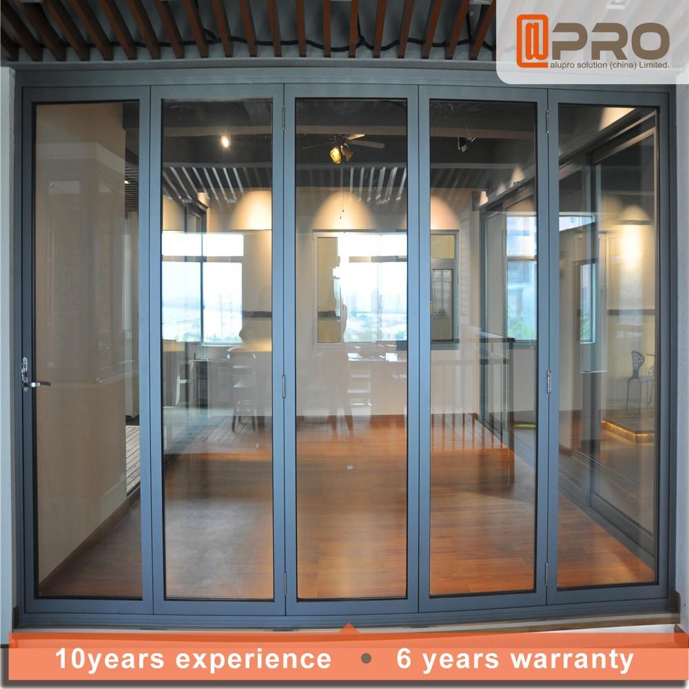 Aluminio bi plegable puerta puerta plegable precio vidrio for Puerta plegable aluminio