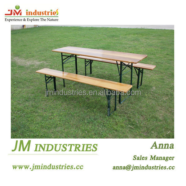 Wood Folding Beer Table And Bench Set Wholesale, Beer Table ...