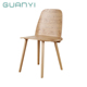Modern solid wood bentwood chair,luxury wood grain leg dining chair