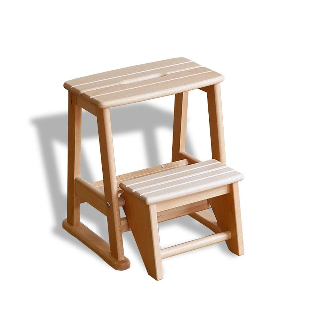 Get Quotations Zxqz Step Stool Folding Multifunctional Solid Wood Children S Ladder
