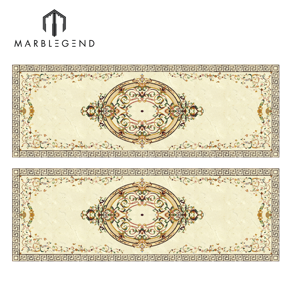 factory price natural marble lace flooring border designs for hall