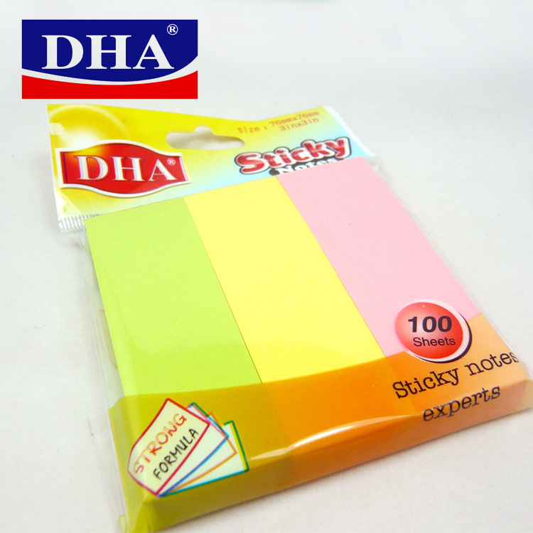 3 farbe kombination sticky notes memo pad