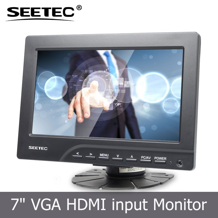 1080i 1080p hd video support VGA HDMI AV interface 4wire touch lcd monitor usb-touch Stand Bracket tv 7""