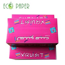 Custom 3ply Pink Color Facial Tissue Fashionable Design