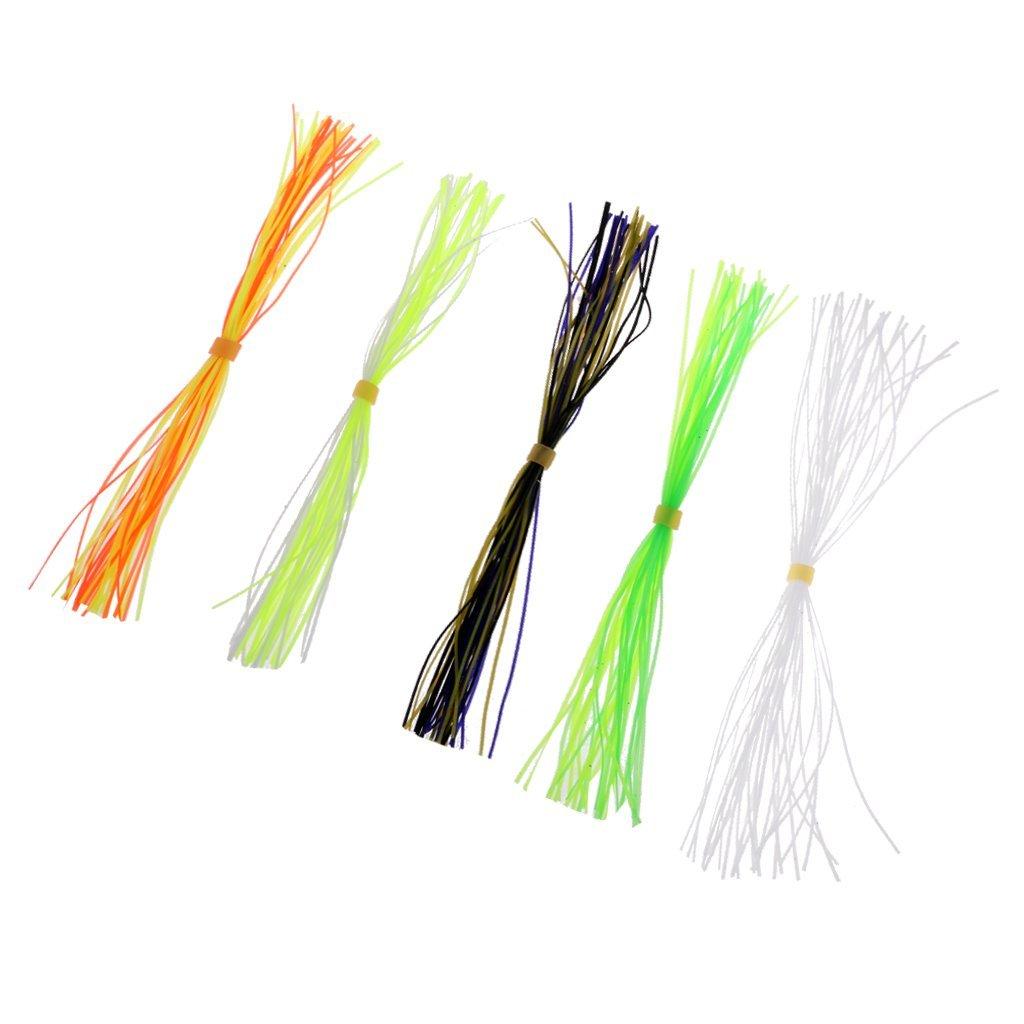 Dovewill 5 Bundles Fly Tying Threads Straps Skirts Fishing Flies Beard Fly Tying Tool