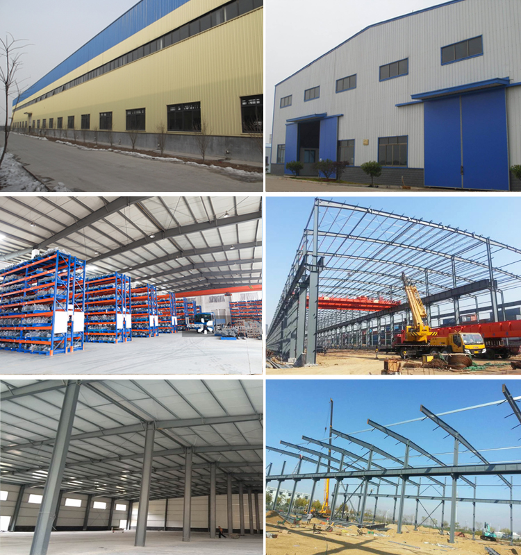 High Quality Steel Structure Warehouse Iron Frame Prefab Car Workshop With Crane