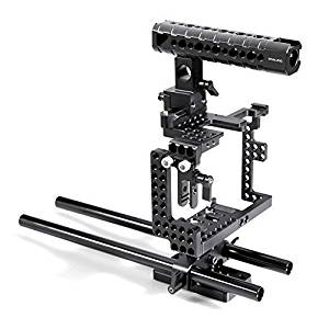SmallRig Cage Kit for Sony A7II/a7rII/a7sII including Top Handle, 15mm Rods, Easy Plate, Nato Rail---1696