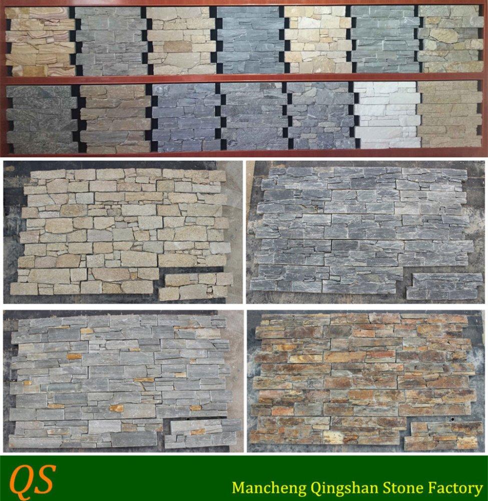 pared exterior losa de piedra de la pared exterior azulejos