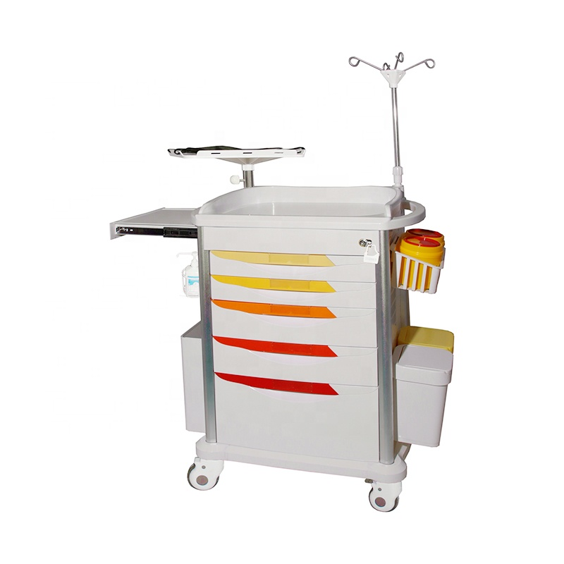 High Quality ABS hospital trolley for emergency Krankenhauswagen fur den Notfall in German factory price