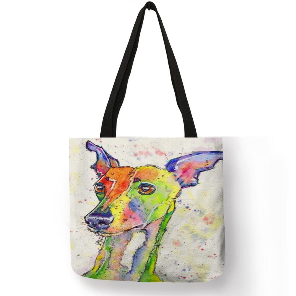 Персонализированная картина маслом Грейхаунд собака «ТОТЕ» с принтами сумка прочная сумка для шоппинга путешествия спортивные сумки для ж...(Китай)