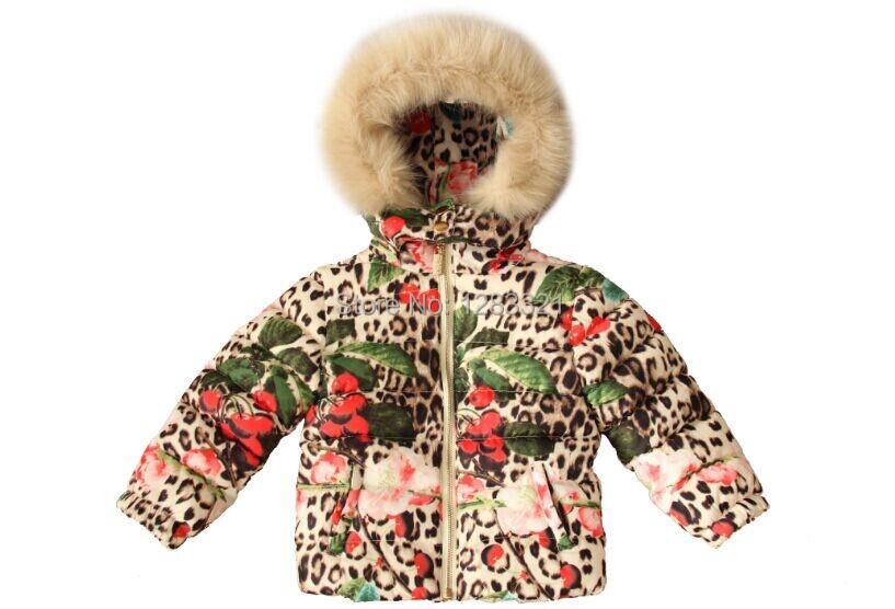 91bd081188e9 Cheap Girls Leopard Print Faux Fur Coat