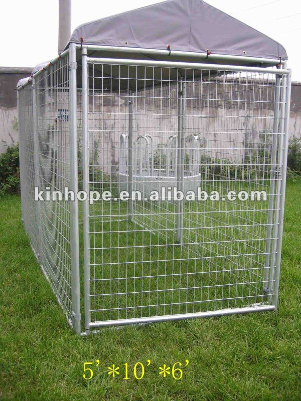 hot dip galvanized dog kennel with A-frame top