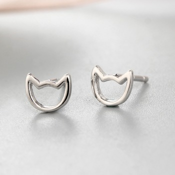 Beautiful Hollow Earring Stud Cute Cat