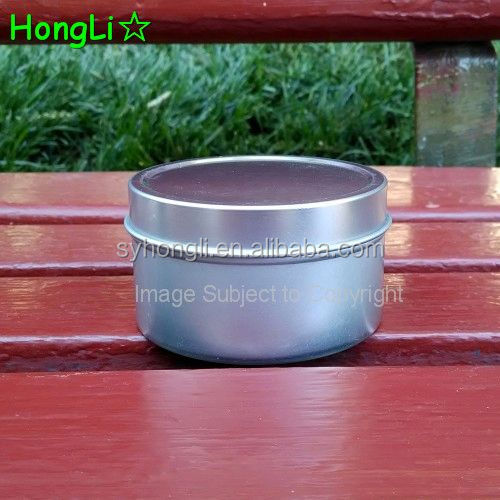 Empty Small Metal Tin Candle Canister