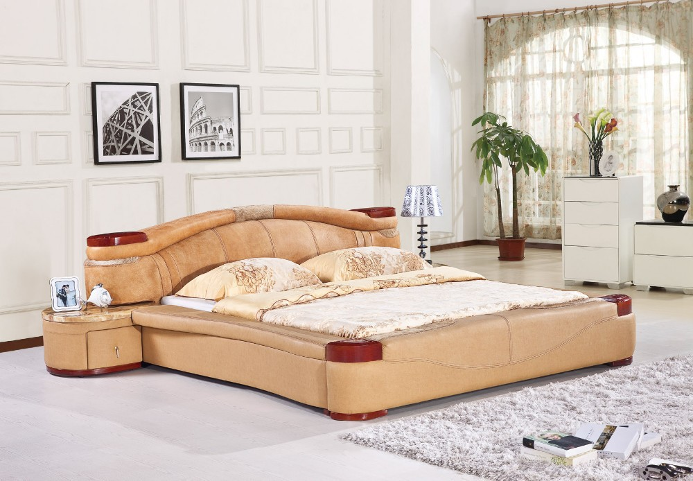 America modern bedroom leather bed h8085 lizz bed hot - Contemporary bedroom sets for sale ...