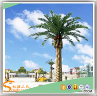 New products wholesale plastic artificial palm tree artificial date palm tree