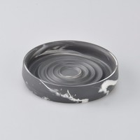 Simple Modern Design Round Shaped Ceramic Soap Dish
