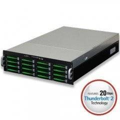 Thunderbolt 2 3U Sixteen SAS | SATA (6Gb/S) Hardware RAID5/6, Red. PSU, Rails Included