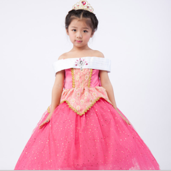 children princess aurora sleeping beauty costume dress for flower girl