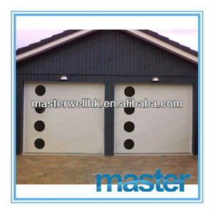 Polyurethane foam panel sectional garage door with Cold Rolled Steel