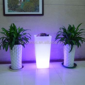 Grote Plastic Led Bloempot Licht Kleur Veranderende Lichtgevende ...