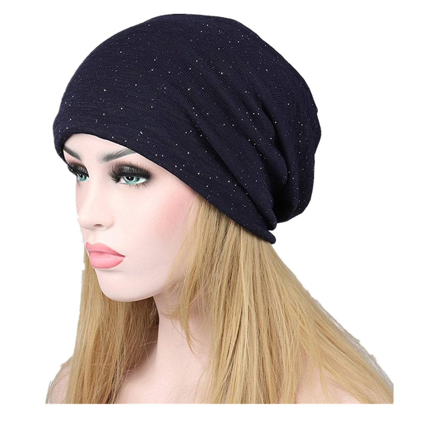 0287a560b54 Get Quotations · Slouchy Beanie - Fheaven Chunky Slouch Beanie Hats for  Women Warm Winter Beanie Head Cap Outdoor
