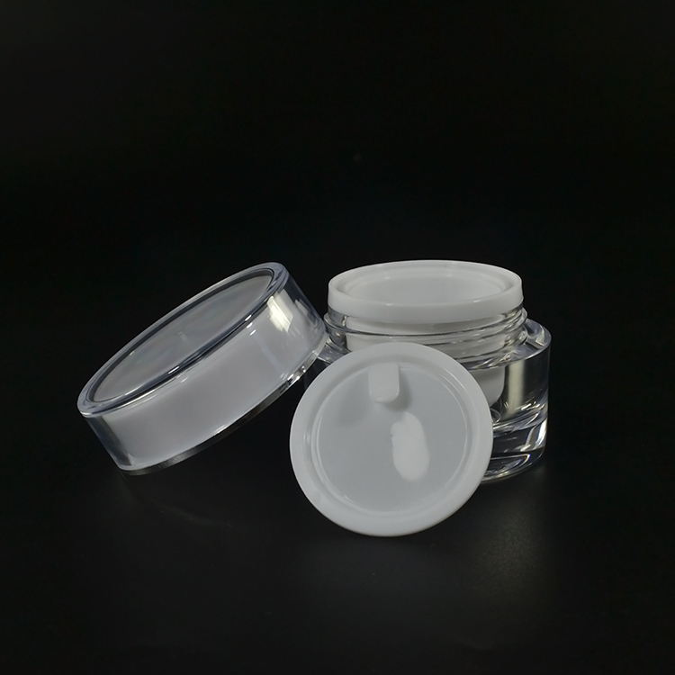 luxury cosmetic containers 5g 10g 15g 20g 30g 50g acrylic plastic cream jar