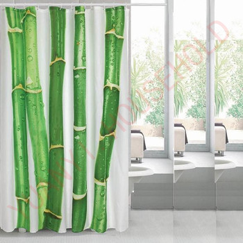 Weights Shower Curtain Bamboo Printed Curtains