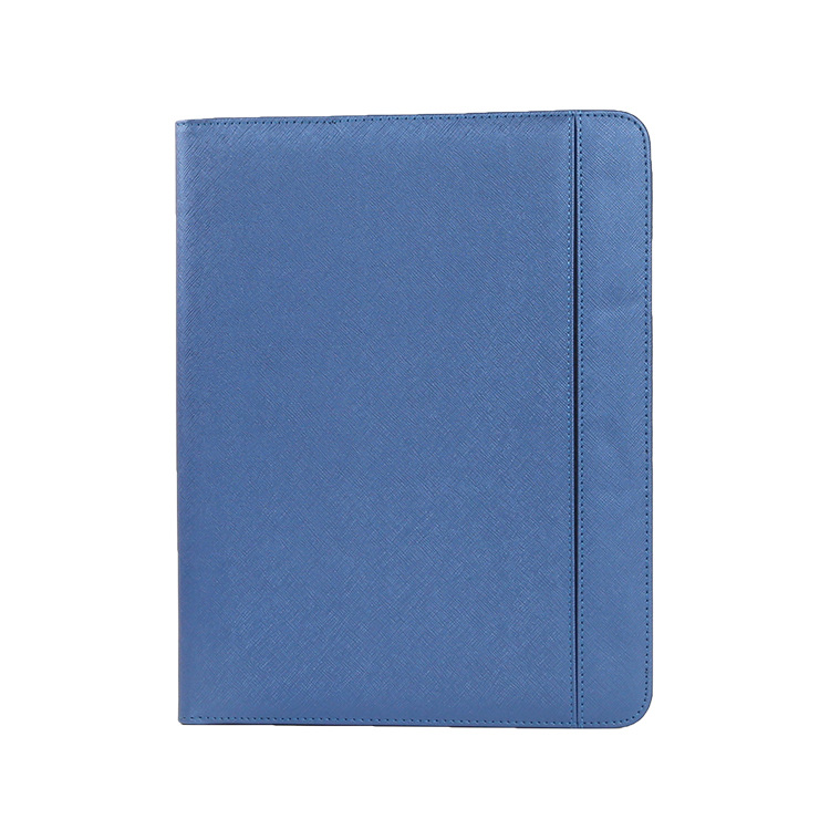 Hot selling document hardcover folders business a4 leather portfolio folders with phone pocket