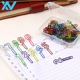 Colorful number shapes clip cheap stationery yes shape paper clips