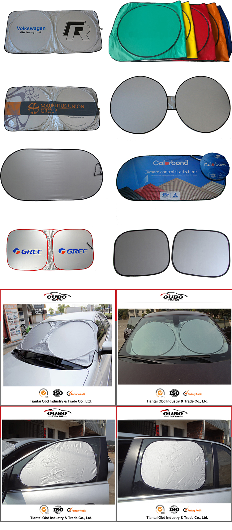 6pcs 7pcs a set of car sunshade for front side and rear window shade