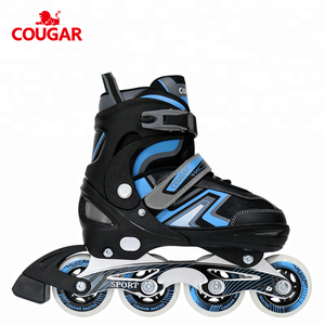Cougar patines profesionales roller quad kids skates adjustable attach to shoes