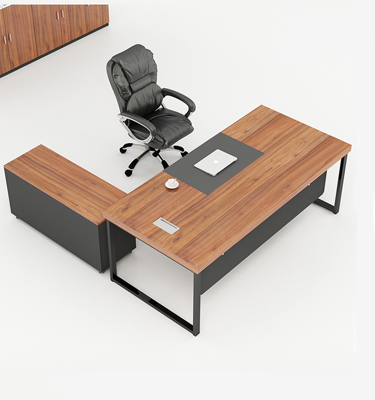 Foshan General Manager Desk Modern Design Executive Office Desk For Commercial Wood Office Furniture metal table legs