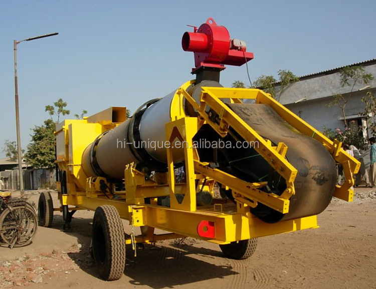 QLB 20t/h Mobile Asphalt Drum Mix Plant With Factory Price