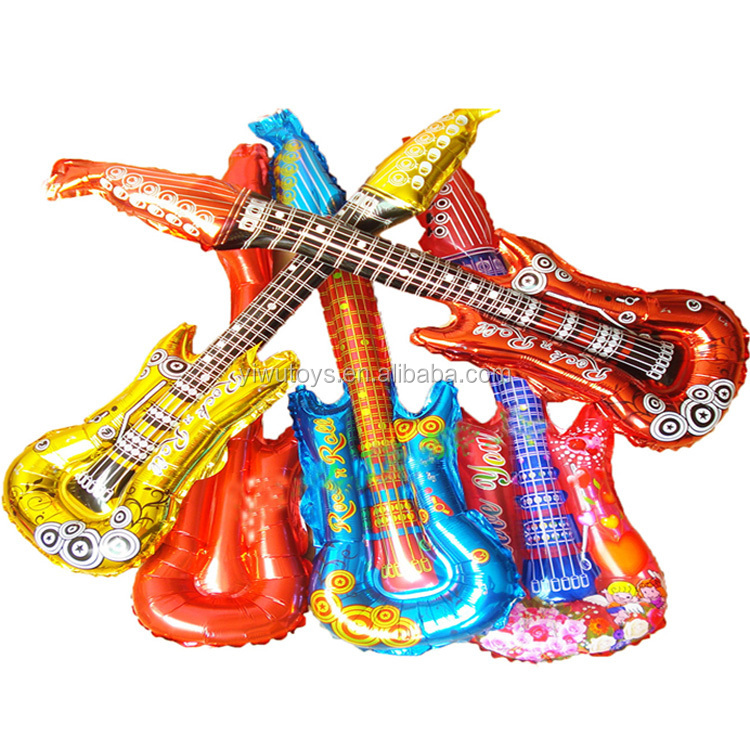 Manufactory inflatable guitar nylon balloon