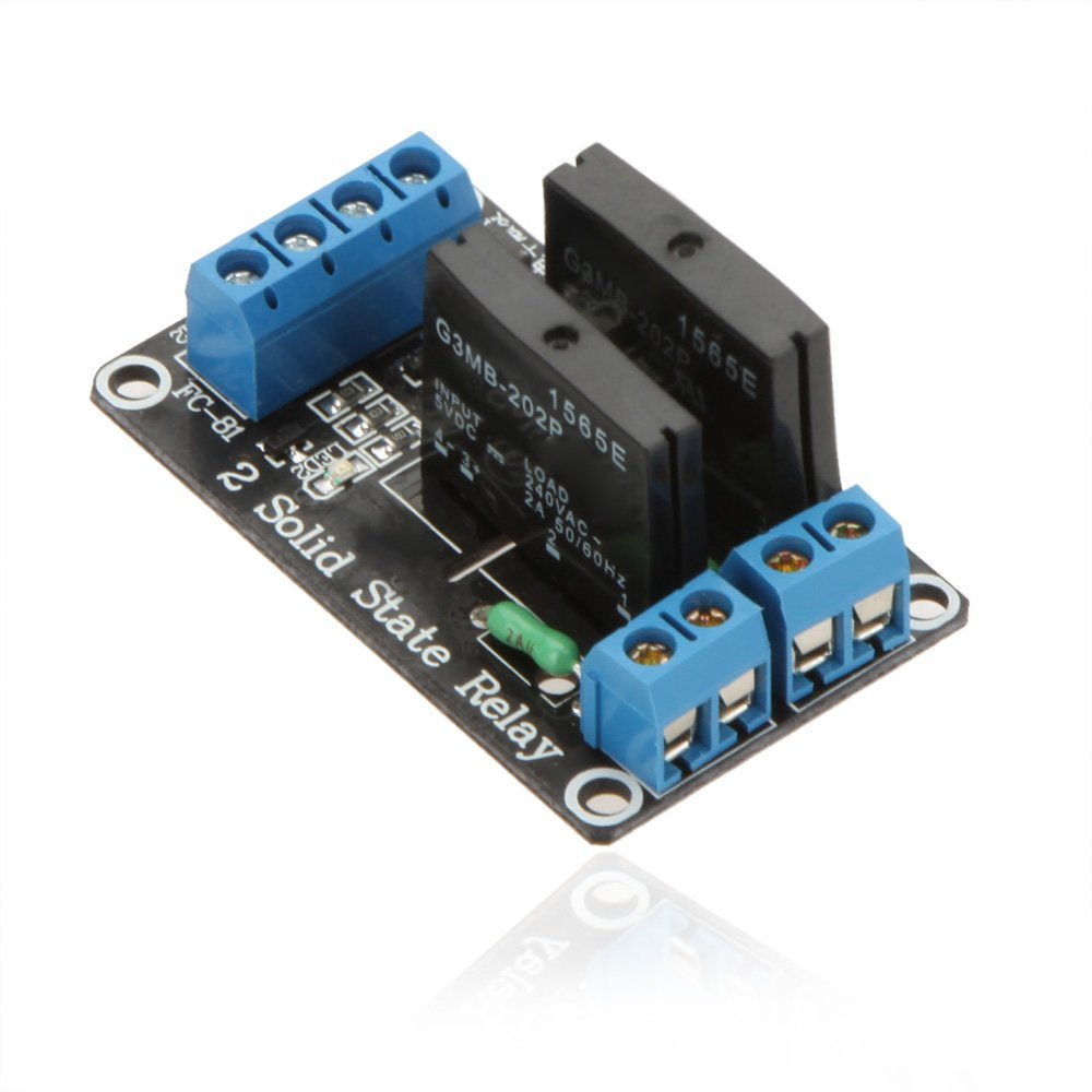 Petbly(TM)High Quality 2-Channel 5V SSR Low Level Trigger Solid State Relay Module Board for Arduino ARM DSP PIC with Resistive Fuse