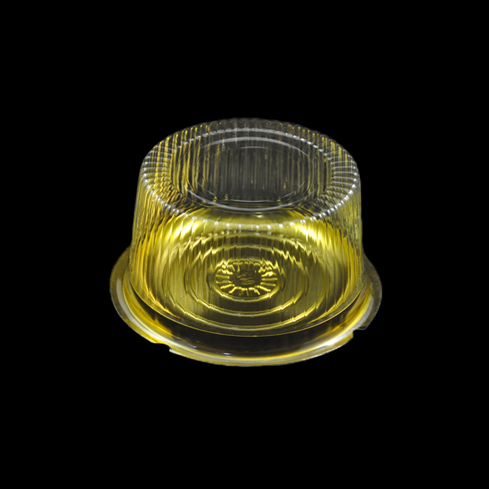 Clear Display Round Transparent Birthday Cake Packaging Box For