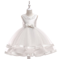 best selling items white toddler vintage turkey wedding baby dress With Bottom Price