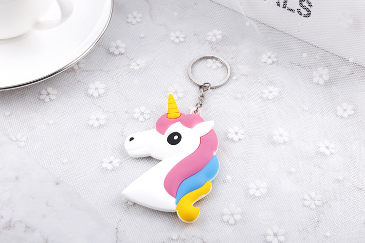 Wholesale Custom silicon keychain cute unicorn keychain