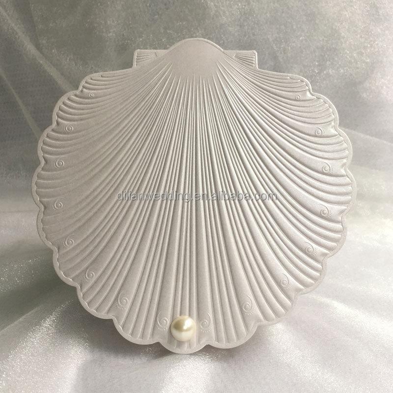Elegant Shell Shape Free Wedding Invitation Samples View