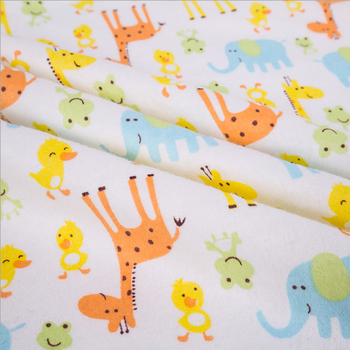 cheap reactive printed 100% cotton flannel fabric stock in china