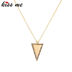 Women Factory Wholesale Fashion Imitated 18 K Gold Necklace